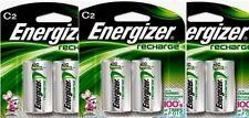 3 - Energizer Rechargeable C Nimh Batteries 2 Pack