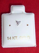 14k White Gold Little three zircon Nose Ring Stud