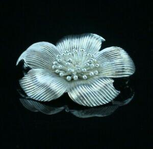 Tiffany & Co. Sterling Silver Dogwood Flower Pin Brooch