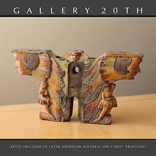 17TH CENTURY AZTEC INFL LATIN AMERICAN ART! HOLY IMAGENE BULTOS SANTOS SCULPTURE