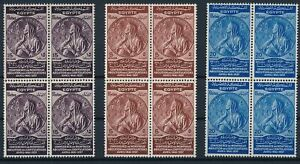 [PG10295] Egypt 1937 Coins good in block of 4 stamps very fine MNH