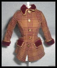 Top Barbie Doll City Seasons Autumn In Paris Plaid Velvet Jacket Accessory