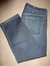 MENS 7 FOR ALL MANKIND AUSTYN DARK BLUE FADE WINTER DENIM JEANS WAIST 38 LEG 29