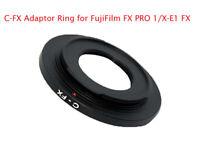 C-FX C-Mount Adaptor fits Cine CCTV Lens to Fuji FX mirrorless cameras UK STOCK