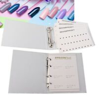 280/120 Tips Colors Chart Display Book Card UV Gel Polish Nail Art Manicure