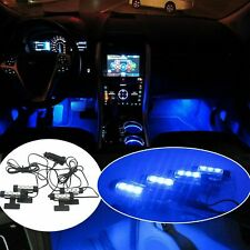 4x 3LED Car Charge Interior Accessories Floor Decorative Atmosphere Lamp Light