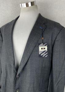 NWT! JOSEPH ABBOUD Loro Piana Four Seasons Wool Modern Blazer Big and Tall 52R