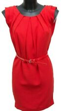 Warehouse Red Shift Dress Size 6 UK Formal Belted Party Any occasion Ruched