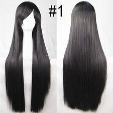 80cm Women Wigs Long Straight Cosplay Fashion Colors Wig Heat Resistant 19 Color