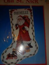 """Dimensions """"OLD ST NICK"""" Christmas Stocking Cross Stitch Kit - NEW"""