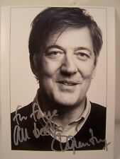 More details for genuine hand signed stephen fry writer/actor/comedian/ qi pr card~uacc member