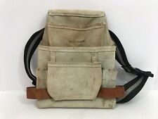 Craftsman Leather Tool Belt Pouch Adjustable Strap Preowned Sears