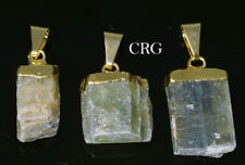 Gold Plated Rough Green Kyanite Pendant (PT23CN)