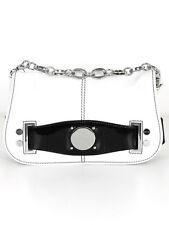 Karen Millen Womens Cream Leather Chain Strap Shoulder Bag W 31 H 19 D 6