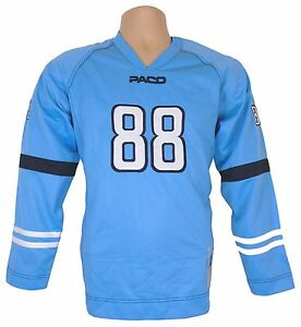 Paco Elite Jeans Mens sports Jersey top Large Baby Blue