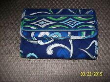 Retired Vera Bradley Mediterranean Blue Euro Tri - Fold Wallet