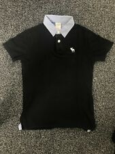 Abercrombie And Fitch Kids black polo shirt size 10