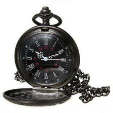 1PC Antique Mechanical Skeleton Steampunk Mens Pocket Watch Open Case Chain