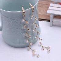 Stud Earrings 1Pair Lady Elegant Crystal Rhinestone Ear Women Fashion Jewelry