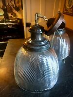 PAIR Available, Antique  Steampunk 12 in. Mercury Glass EARLY Fixtures Restored