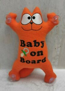 Simon's cat in the car on suction cups, handmade soft toy with your inscription.
