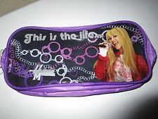 """HANNAH MONTANA PENCIL CASE """"THIS IS THE LIFE......"""" NWT"""
