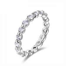 Cubic Zirconium Diamonds Eternity Ring, SIZE 6, 7, White Gold Plated