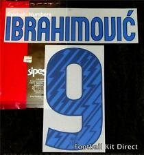 Barcelona Ibrahimovic 9 2010/11 Football Shirt Name Set Away