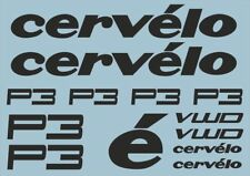 CERVELO P3 Bike Bicycle Frame Decals Stickers Graphic Adhesive Set Vinyl Black