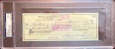 1973 Sam Snead Signed Check PSA MINT 9 Slabbed & Estate Certified Golf HOF