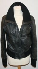 Ladies Asos Leather Jacket. Size 12. Black. FREE P+P. Biker Jacket. Real Leather