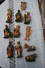 11 x Vintage Krippenfiguren bis 11 cm Krippe Weihnacht Italy Christkind Maria