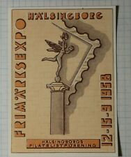 Frimarksexpo Halsingborg Stamps Expo Sweden 1958 Philatelic Souvenir Ad Label Mh