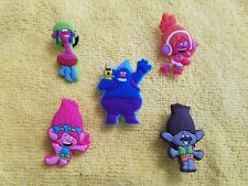 TROLLS shoe charms/cake toppers!! Set of 5!! FAST USA SHIPPING!