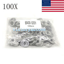 100 PC OIL DRAIN PLUG WASHER GASKETS(P/N 90430-12031) FOR TOYOTA/LEXUS