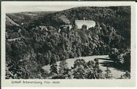 Ansichtskarte Schloß Schwarzburg im Thüringer Wald - schwarz/weiß