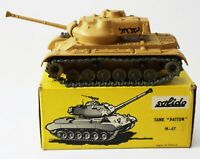 Solido Diecast Military Army Tank GENERAL PATTON M 47 Char Blinde Made France