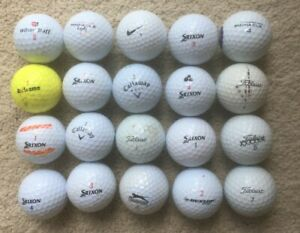 20 used Golf Balls, assorted brands