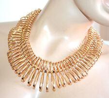 COLLANA GIROCOLLO donna oro dorata semi rigida elegante collarino collier A84