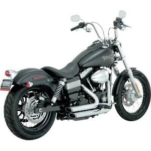 Vance & Hines - 17227 - Shortshots Staggered Exhaust System, Chrome