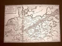 La Germania antica Acquaforte del 1779 Mappa Histoire Universelle chez Moutard