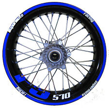 Husaberg FS 570 (blau) - easy-wrapped Felgenaufkleber (Supermoto)