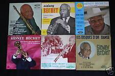 """Sidney Bechet   Lot de 6 disques EP 45T 7"""""""
