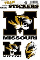 University of Missouri Tigers 3 Large Decal Stickers