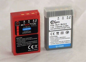 2 x BLS-5 batteries in good condition