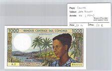 BILLET COMORES - 1000 FRANCS - ND(1984)
