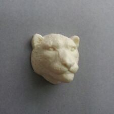 Gorgeous Realistic Snow Leopard Head Big Cat Handcast Resin Cabochon For Crafts