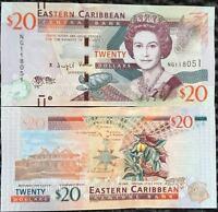 EAST CARIBBEAN 20 DOLLARS 2015 P 53 b UNC
