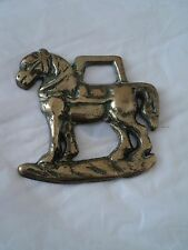 Vintage antique horse brass old brass badge free postage to united kingdom,...