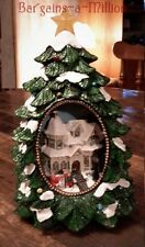 Lighted Musical Winter Village Christmas Tree Sculpture Holiday Tabletop Decor